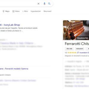 posizionamento Google e-commerce ivorylab