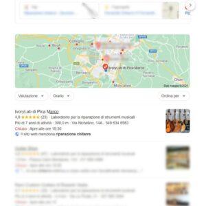 posizionamento Google vetrina ivorylab